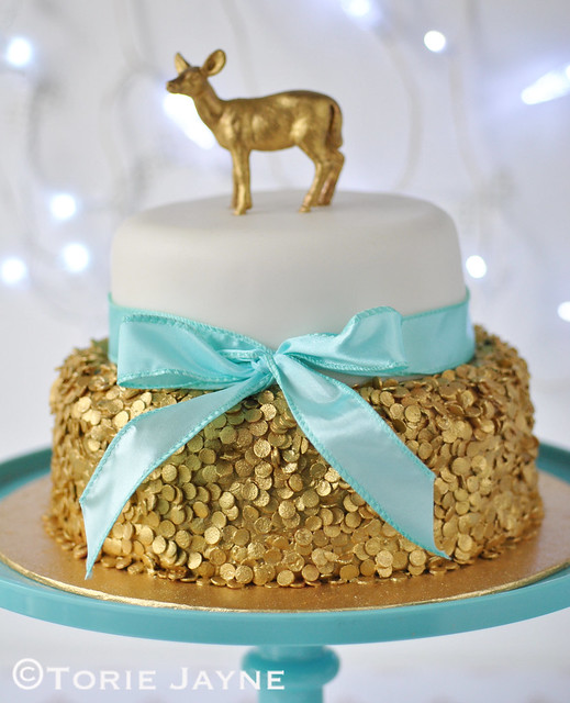 Sequin Christmas Cake 1