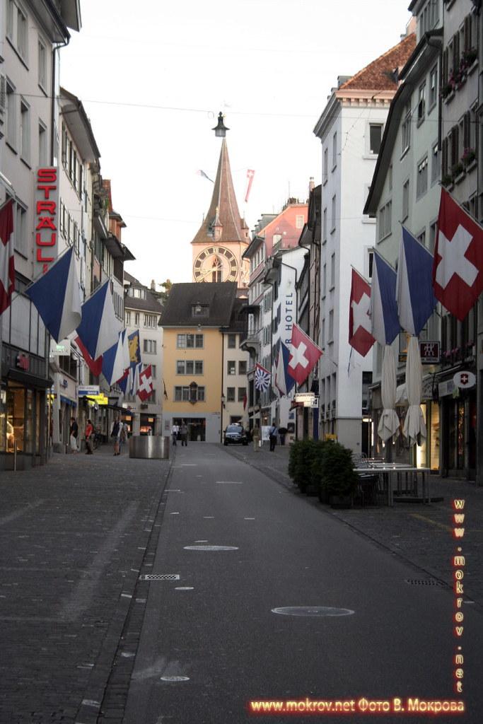 Исторический центр города Цюриха фотографии