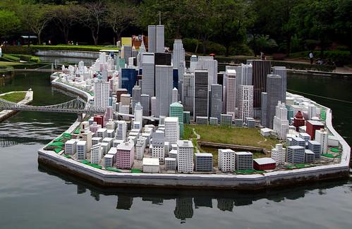 Skyscrapers Manhattan.Model China.