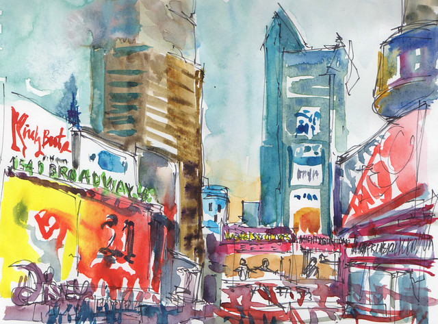 Times Square colors, USK Global Sketchwalk Nov 11