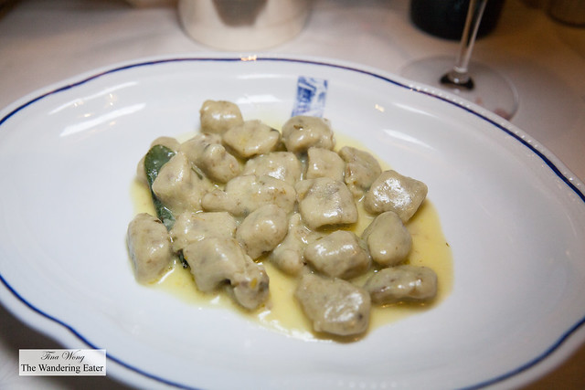 Artichoke gnocchi (special of the evening)
