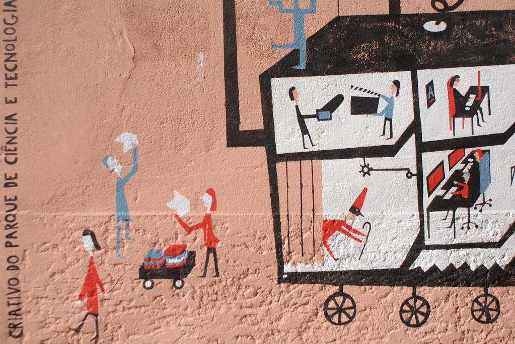 Street art dans le quartier de Cedofeita à Porto.