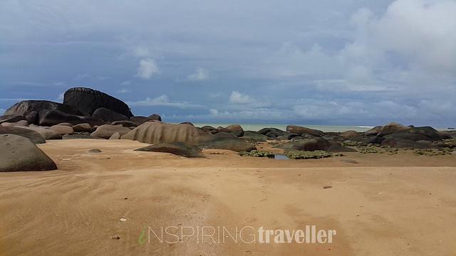 Salah satu pantai di desa Temajuk, Kalimantan Barat