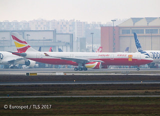 F-WWCZ 1st A330 for Lucky Air in new livery.
