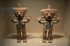 St Petersburg, FL - Museum of Fine Arts - Female and Male Figures with Raised Hands - Mexico, Jalisco (Toltec Style), c 900-1200 AD