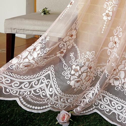 微光蒔花 典雅花卉 繡花 無接縫窗紗布 展覽場裝飾佈置 新娘頭飾頭紗禮服服裝裝飾布料 DB1890020