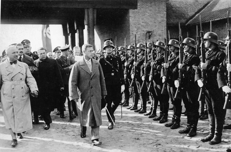 Edward reviewing a squad of SS -- Ordensburg Crössinsee -- in Pommern on October 13, 1937.