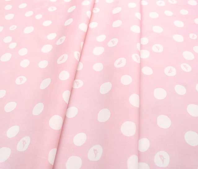 Birch Fabrics Basics Birch Dot in Blush