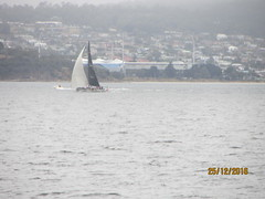 "Sailing boat ""racing"" with jet-ski"