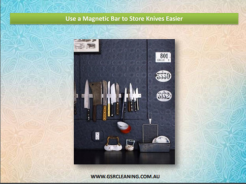 Use a Magnetic Bar to Store Knives Easier