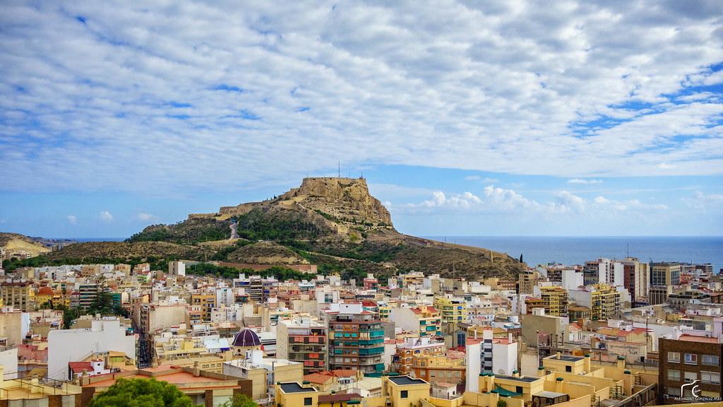 Costa Blanca Map Alicante Spain