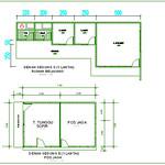 Denah Gedung D (rumah belakang) dan Gedung E (pos jaga)