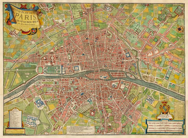 Louis Charles Desnos - Nouveau Plan De Paris Ses Faubourgs et ses Environs (1763)