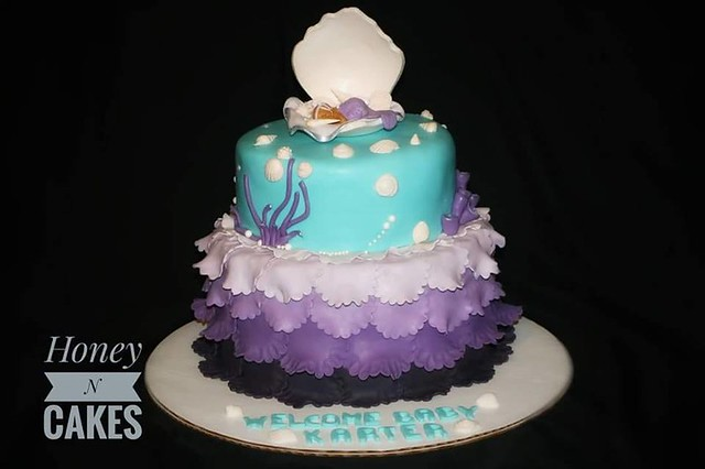 Mermaid Baby Shower Cake By Shahad Al Meshhedani Of Honey N Cakes