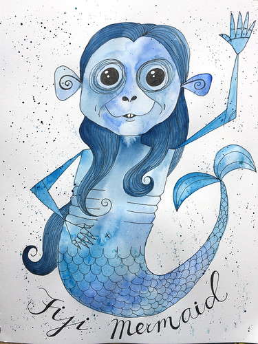 46 - Fiji Mermaid - Art Journal Page