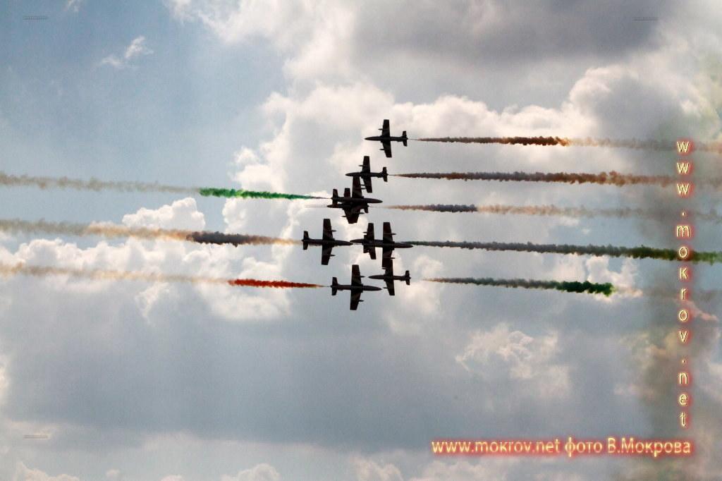 Групповой пилотаж 10х MB-339 Фречче Триколори, Италия.