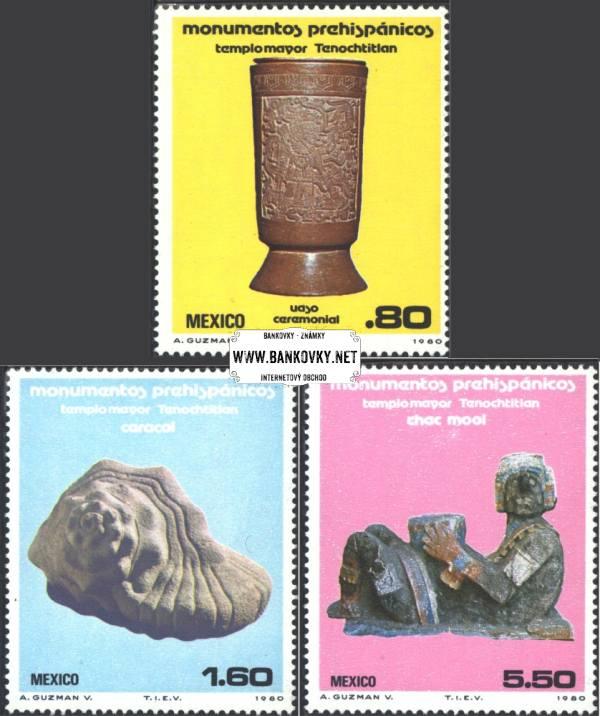 Známky Mexiko 1980 Predkolumbijské monumenty, neraz. séria