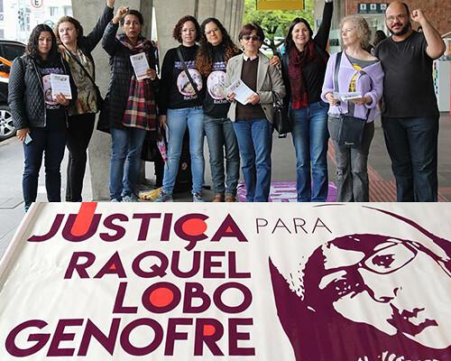 APP-Sindicato, União Brasileira de Mulheres, Marcha Mundial das Mulheres e CUT Paraná em protesto por justiça no caso Rachel Genofre, assass - Créditos: APP-Sindicato