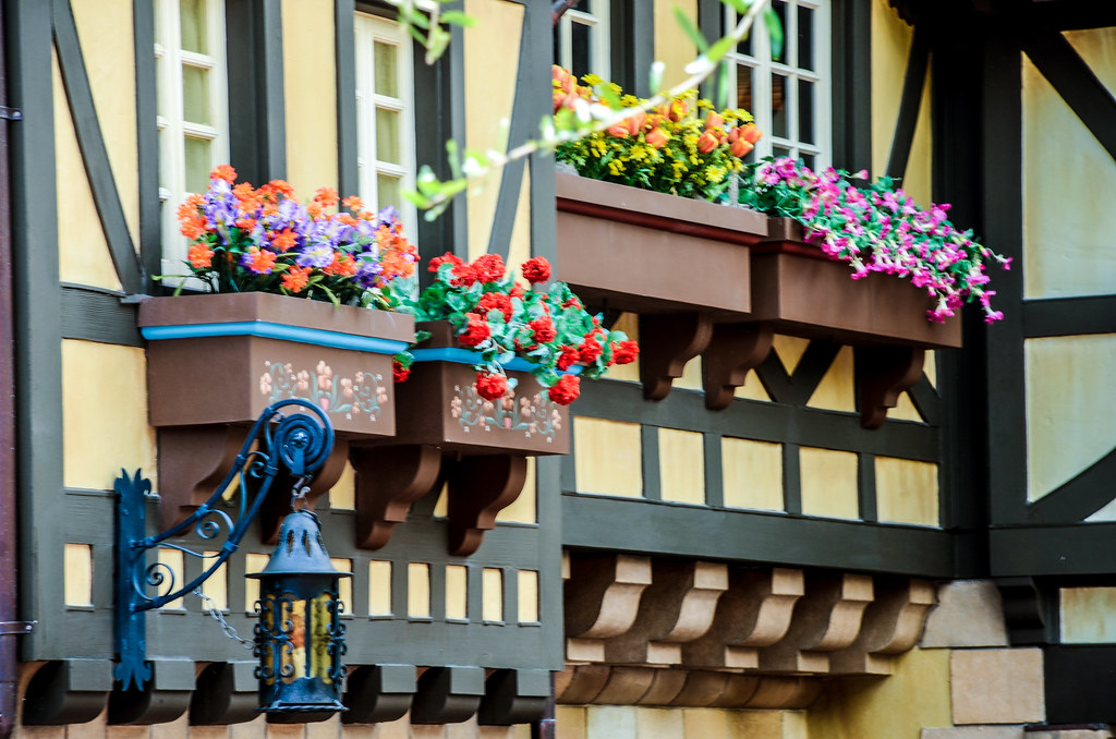 MK flowers on wall