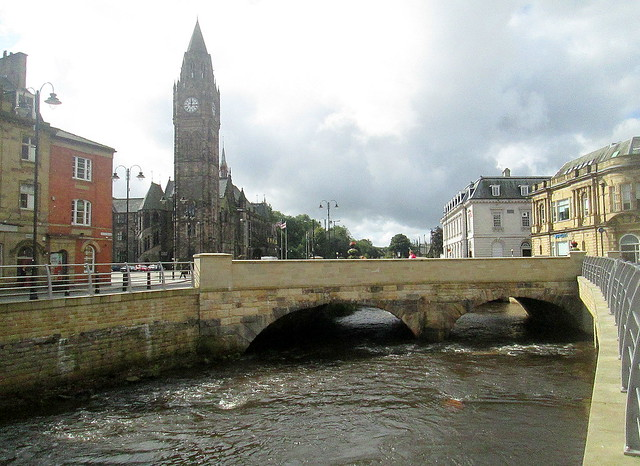 Town Bridge + Hall, Rochdale