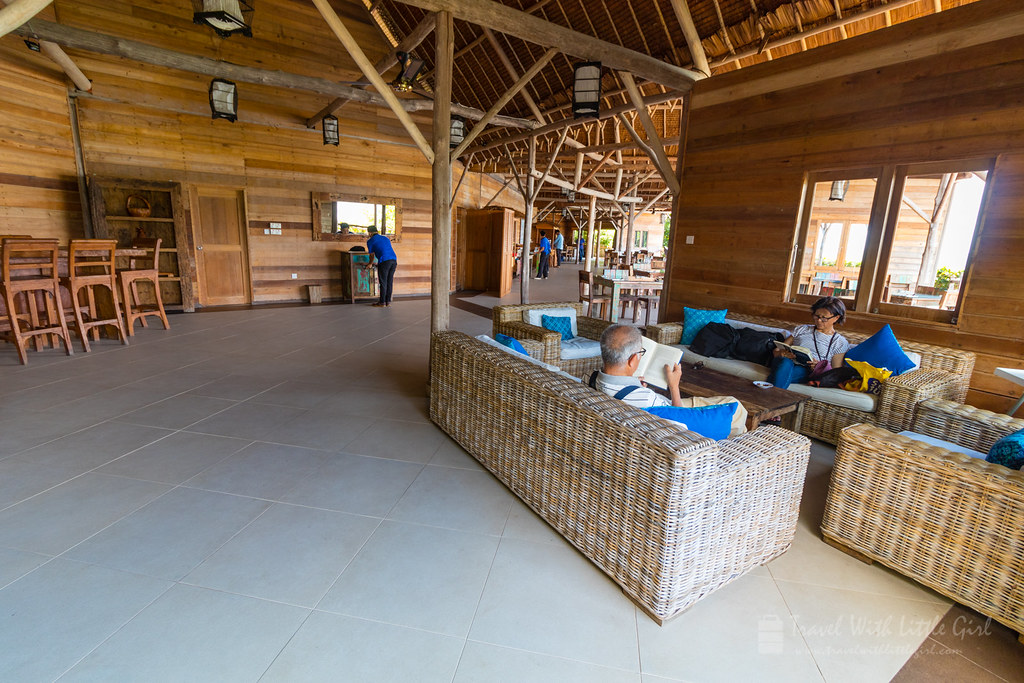 From the end of the hall, Telunas Private Island