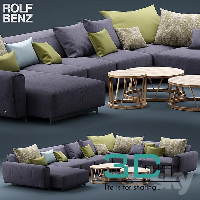 314 sofa rolf benz teno 3d mili download 3d model. Black Bedroom Furniture Sets. Home Design Ideas