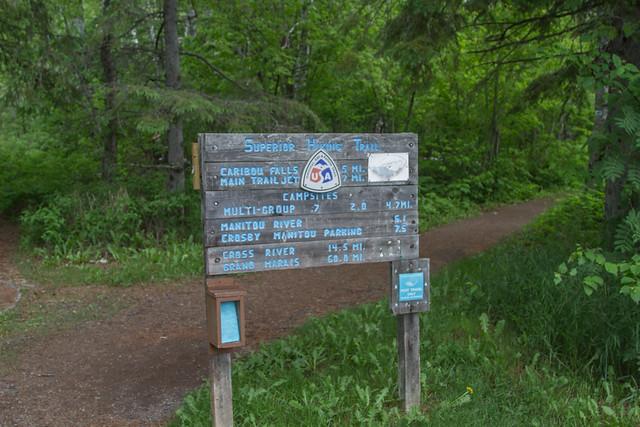 Caribou Falls Sign