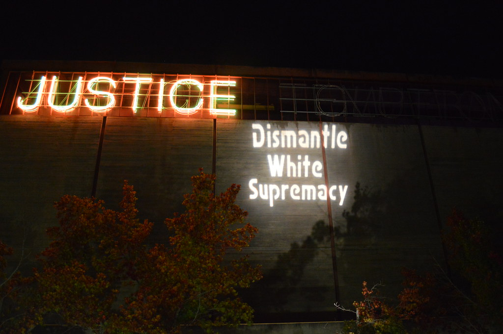 San Diego Solidarity Brigade & OLBSD Projections for Racial Justice - Dismantle White Supremacy