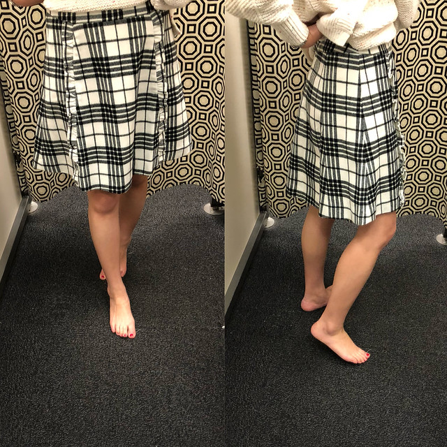 LOFT Outlet Plaid Skirt, size 2 regular ($54.99, purchased on sale for $22.49)