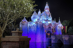 Sleeping Beauty Holiday Castle Side View