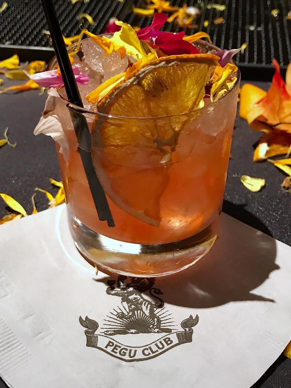 Mezcal cocktail from Pegu Club