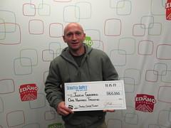 Justin Gebhard - $100,000 - Jewels Super Ticket - Garden City - Maverik