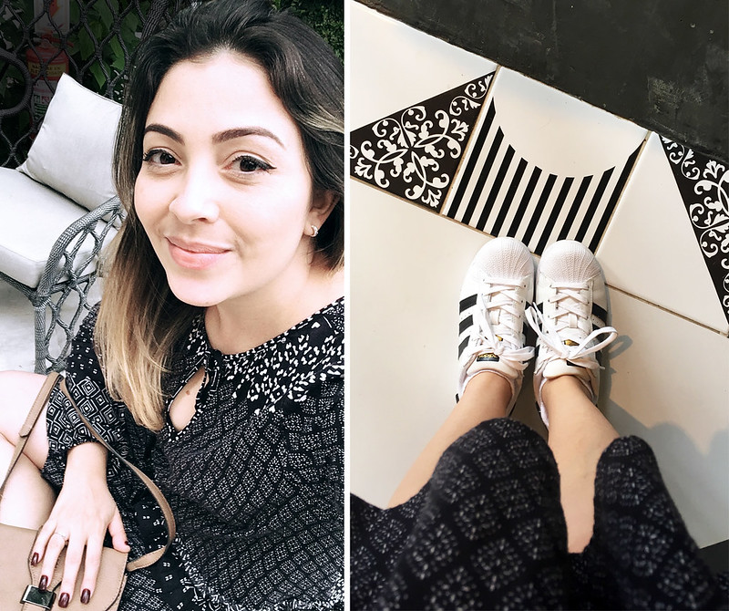 Look do Dia - Tênis com Vestido - Superstar Adidas