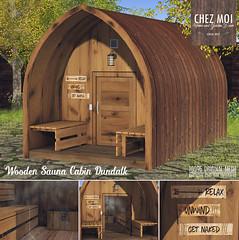 Wooden Sauna Cabin Dundalk CHEZ MOI