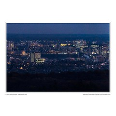 Nightfall, Downtown Ottawa from Gatineau Park