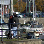 Couple at Preston Docks
