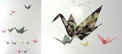 Washi Paper Crane Mobile