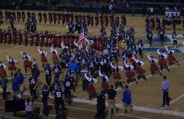 The Scots take the field