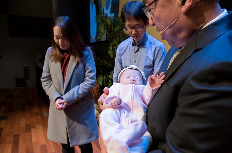 12월 10일 주일 유아축복