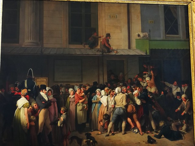 From the Louvre - Louis Lopold Boilly 1761-1845 People Entering to See a Free Show at the Ambigu-Comique Theatre