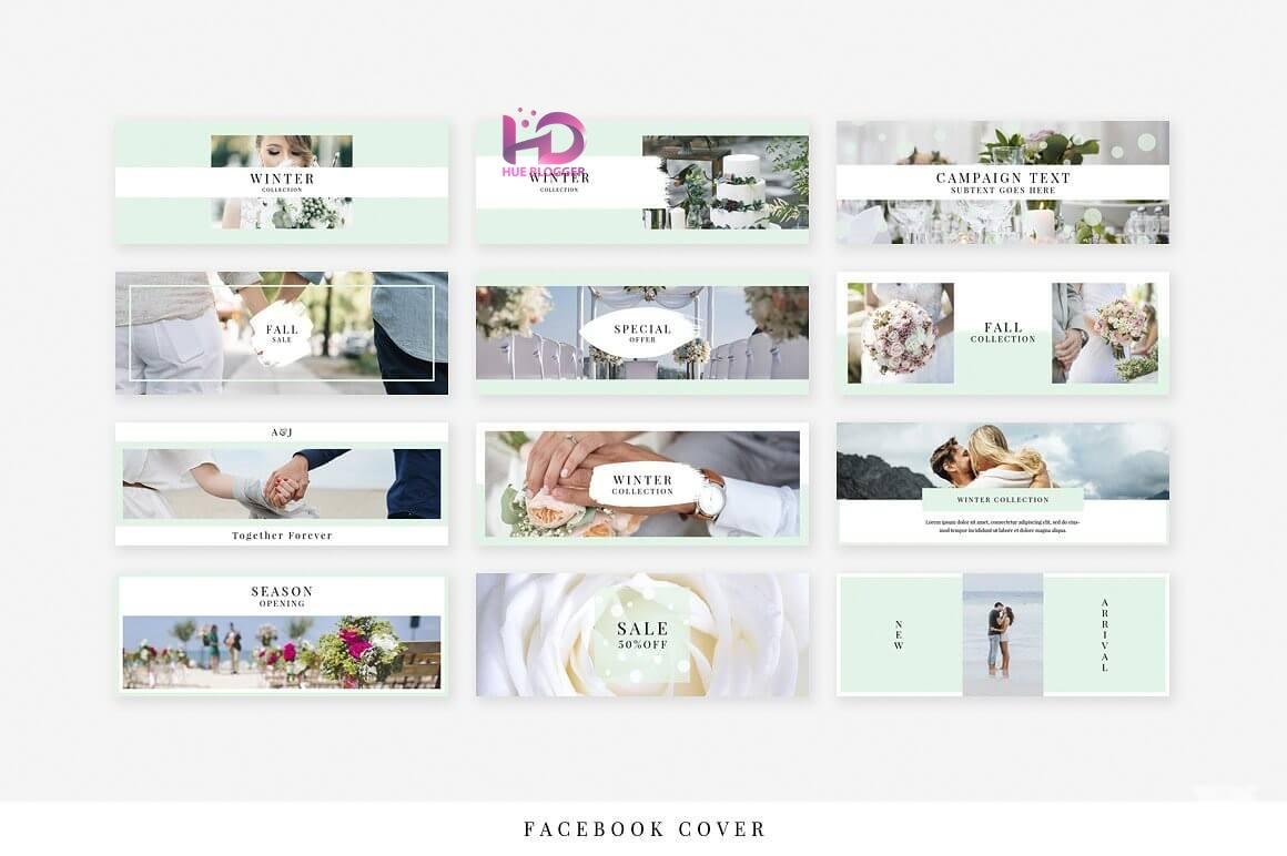 30+ Template banner đám cưới