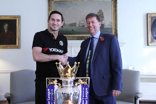 Frank Lampard at the British Embassy Tokyo