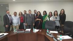 Integrantes das delegações do Brasil e da Índia