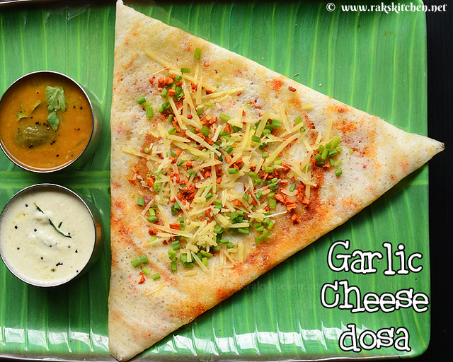 cheese-garlic-dosa