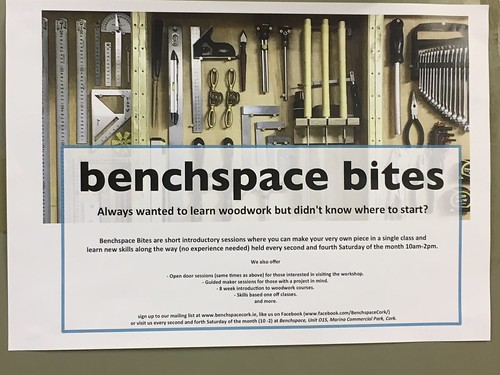 Saturday workshop at Benchspace at the Cork city Marina.