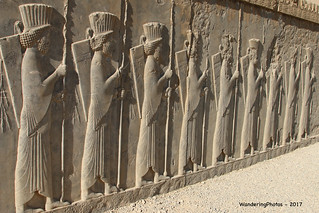 Stone carving Bas-Reliefs - Palace of Darius the Great - Persepolis Iran