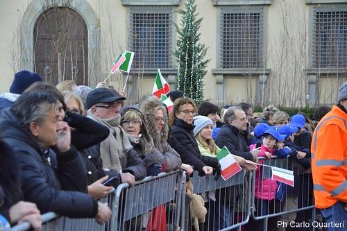 Sergio Mattarella a Pistoia, l'arrivo del presidente della repubblica foto di Carlo Quartieri