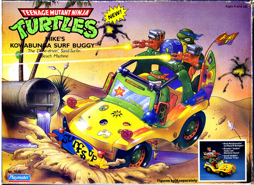 TEENAGE MUTANT NINJA TURTLES :: MIKE'S KOWABUNGA SURF BUGGY ..box ii (( 1991 ))