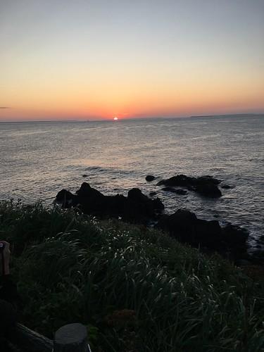 翌朝日本ほぼ最速の日の出を