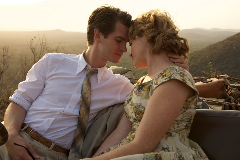 andrew garfield and claire foy in - BREATHE
